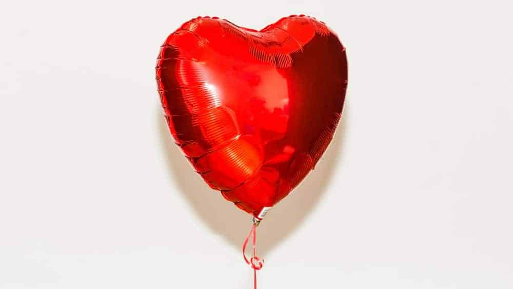 Balloon shaped as a heart
